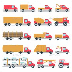 Buy Trucks Icons Set by volyk on GraphicRiver. Vector silhouettes of vehicles Car Drawing Kids, Truck Icon, Buy Truck, Graphics Fairy, Car Drawings, Icon Set, Kids Rugs, Trucks, Silhouettes