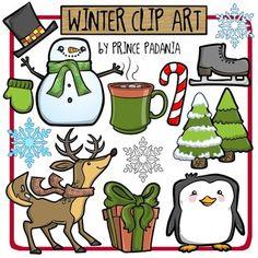 Christmas / Winter Clip Art FREEBIE! | by Prince Padania
