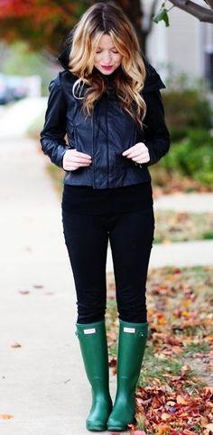 1f192c5b5a21 10 Ways To Style Hunter Rain Boots Green Rain Boots