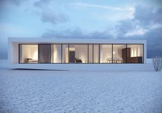 Reykjavik House in Iceland / Moomoo Architects  gives a good example of the effective simplicity minimalism for a beach house
