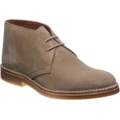 best service fdaff b8c06 Herring Dune rubber-soled desert boots in Sand Suede