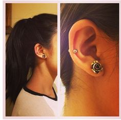 mid cartilage. want this on one ear, i already have double lobe