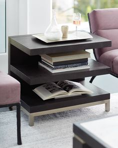 Shop Decorage Open Shelf End Table from Bernhardt at Horchow, where you'll find new lower shipping on hundreds of home furnishings and gifts. Furniture Companies, Furniture Sale, Kitchen Furniture, Furniture Design, Mirrored Coffee Tables, Bernhardt Furniture, Mortise And Tenon, Upholstered Furniture, Open Shelving