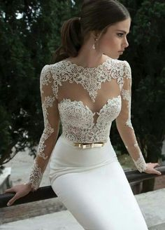 Lace & White
