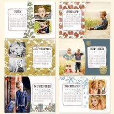 Gorgeous hand drawn and prints calendar - great for kids Homemade Calendar, Simplicity Photography, Photo Album Book, Calendar Design, Calendar Ideas, Photoshop Fonts, Easy Craft Projects, Craft Ideas, Photo Calendar