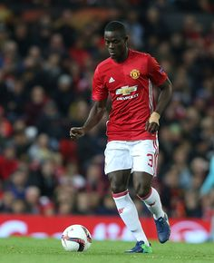 Eric Bailly of Manchester United in action during the UEFA Europa League match between Manchester United FC and Fenerbahce SK at Old Trafford on...