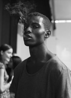 Adonis Bosso backstage Richard Chai Love SS14.  Ph:  Elisa Hyman