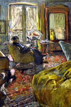 Edouard Vuillard - Interior with Woman Reading. Professional Artist is the foremost business magazine for visual artists. Visit ProfessionalArtistMag.com.- www.professionalartistmag.com