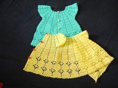 Beautiful crochet baby dress! Meu Mundo Craft: Vestido para bebê