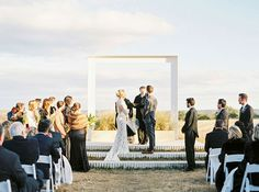 Love the idea of a steel picture frame as ceremony backdrop at Prospect House ~ we ❤ this