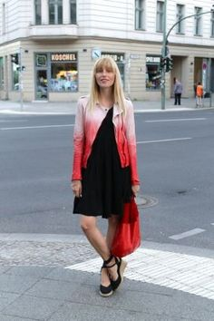 Cloudy of Les Mads in the SS13 Muubaa Fornas Ombre Biker in Coral