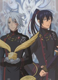 Allen and Kanda again, as well as the golden Golem Timcanpy