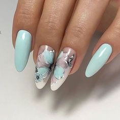 Make an original manicure for Valentine's Day - My Nails Beautiful Nail Art, Gorgeous Nails, Pretty Nails, Flower Nail Designs, Nail Art Designs, Hair And Nails, My Nails, Chic Nails, Christmas Nail Art