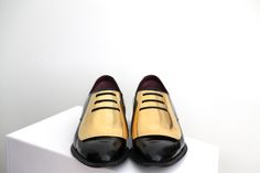 Celine gold-plated brogues