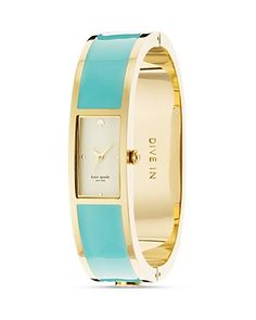 Kate Spade Carousel bangle watch in turquoise.  Yes, please!