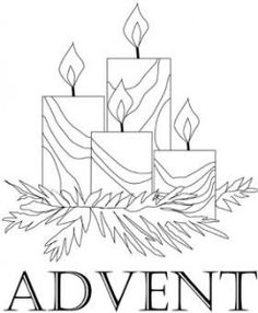 Advent Wreath coloring page -