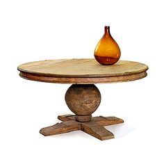Table for new  house. Reclaimed Wood Pedestal Table at HudsonGoods.com
