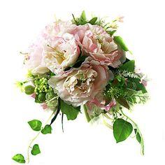 Elegant+Silk+Hibiscus+With+Chiffon+Decoration+Round+Wedding+Bouquet/+Bridal+Bouquet+–+EUR+€+16.49