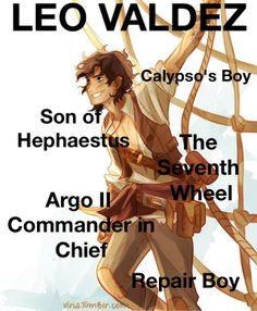 Leo Valdez, son of Hephaestus