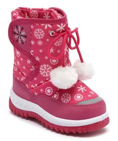 Another great find on #zulily! Fuchsia Snowflake Snow Boot by Adorababy #zulilyfinds