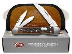 CASE XX Jigged Chestnut Bone Lockback Whittler Stainless Pocket Knife - CA7216 | 7216 - 021205072166