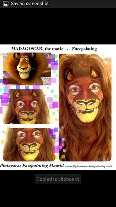 Madagascar. Character Makeup, Character Ideas, Cheetah Face, Animal Paintings, Face Paintings, Animal Makeup, Facial, Animal Faces, Face Art