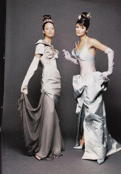 https://flic.kr/p/wiVhJh   Voge Italia Lacroix Marzo 1995   Brandi Quinones and Helena Christensen