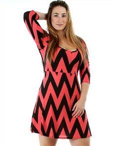 Plus Size Chevron Print Dress! <3