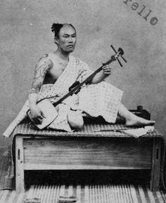 """""""Cota""""-player, Nagasaki, ca. 1869-1870"""