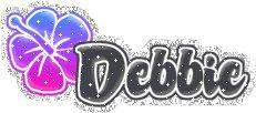 ~Debbie-Glitter Flowers