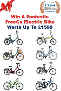 Win a fantastic FreeGo Electric Bike worth up to £1599.  Enter NOW! http://vy.tc/dmuvx43