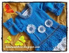 HandmadeBoni: Sweterek z kwiatami (122 cm wzrostu ). Zrób razem ...