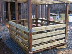 Home Made Wooden Hay Feeders | CS Farm and Farrier : Livestock and Equipment for Sale