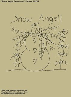 Snow Angel Snowman