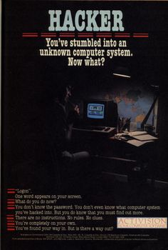 Hacker.  Back when Activision were small.
