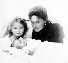 The Tsarina, Grand Duchess Olga and Grand Duchess Marie