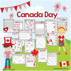 July Canada Day Free resources, activities, printable handouts for students and children. Canada For Kids, Canada Day 150, Happy Canada Day, Crafts For Seniors, Crafts For Kids, Canada Independence Day, Canada Celebrations, Canada Day Fireworks, Canada Day Crafts