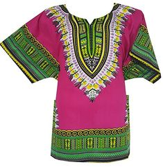 African Dashiki Shirt, African Blouses, Blouse Hippie, Hippie Man, Hippie Tops, Fashion Brands, Cover Up, Topshop, Green