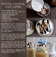 Try this easy to make Mocha Coconut Iced Coffee recipe now! Iced Coffee Drinks, Coffee Wine, Coffee Shop, Coffee Lovers, Yummy Drinks, Yummy Food, Fun Drinks, Healthy Drinks, Beverages