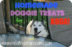 Healthy Branscoms: Homemade dog treats
