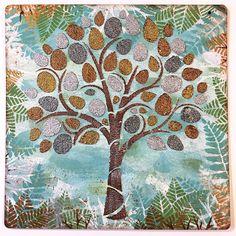 Mixed Media Tree Wall Hanging Video Tutorial by Melina Dahl