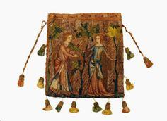 N e e d l e p r i n t: 14th Century Wedding Gift Purse * Hamburge Kunst & Gewerbe Museum