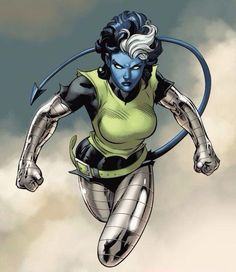 Rogue after taking Colossus & Night Crawler's powers