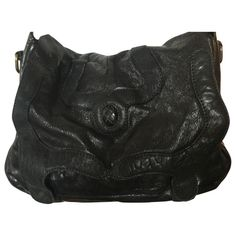 0613984cca Leather hand bag JEROME DREYFUSS Black