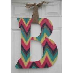 Funky Chevron Initial Door Hanger  by AtCalvaryCreations on Etsy https://www.etsy.com/listing/217051327/funky-chevron-initial-door-hanger