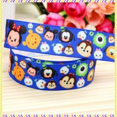 Tsum Tsum 7/8th inch grosgrain Ribbon. 13$ for 15 yards