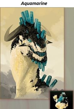 dragons that look like minerals by Katherine Erlikh