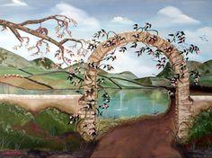 exterior painted murals | flower murals and art english countryside flower mural 4 ft