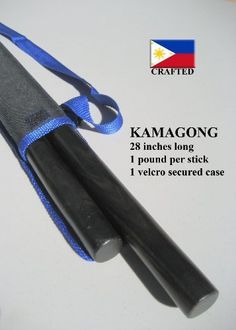 Escrima Arnis Kamagong Pair of Sticks also known as Ironwood includes Carrying Case with adjustable strap by Arnis Authority. $35.95. Our Kamagong Arnis, also known as the Ironwood, is made from the highest quality Kamagong wood in the market. Our team is made up of biologists that select only the highest quality wood. They insure that the wood is properly dried and prepared for cutting.   Then our master craftsman, in the Philippines, cleanly cuts the Kamagong wood to 28-inc... Academy Of Martial Arts, Mixed Martial Arts, Escrima Sticks, Tang Soo Do, Wooden Walking Canes, Martial Arts Weapons, Hapkido, Training Equipment, Judo
