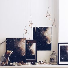Stardust print installation, currently in my studio